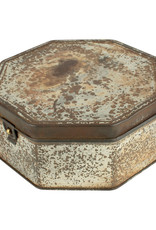 Vintage Tin #12 Silver Octagon