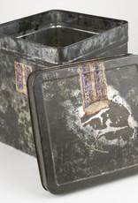 Vintage Tin #15 Large Grey Cube
