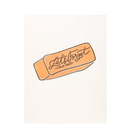 Dahlia Press Let's Forget I said that - Letterpress Card