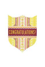 Hammerpress Congratulations Badge Letterpress Card