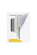 Hammerpress Thank You Silver Sky Letterpress Card
