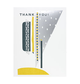 Hammerpress Thank You Silver Sky - Letterpress Card