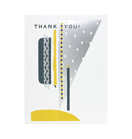 Hammerpress Thank You Silver Sky Letterpress Card