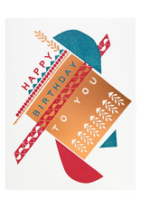 Hammerpress Dada Piñata Birthday - Letterpress Card