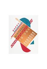 Hammerpress Dada Piñata Birthday Letterpress Card