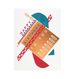 Hammerpress Dada Piñata Birthday Letterpress Card