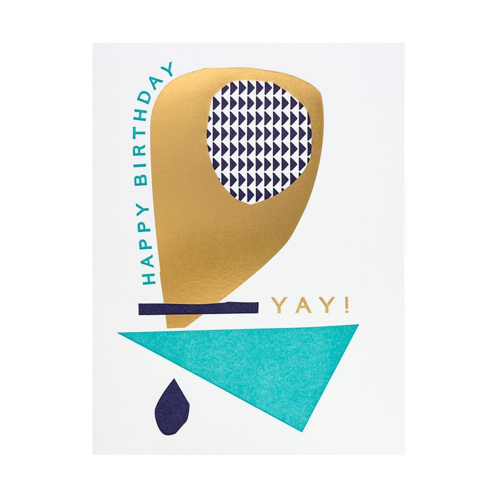 Hammerpress Happy Birthday Yay Letterpress Card