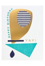 Hammerpress Happy Birthday Yay Letterpress Card