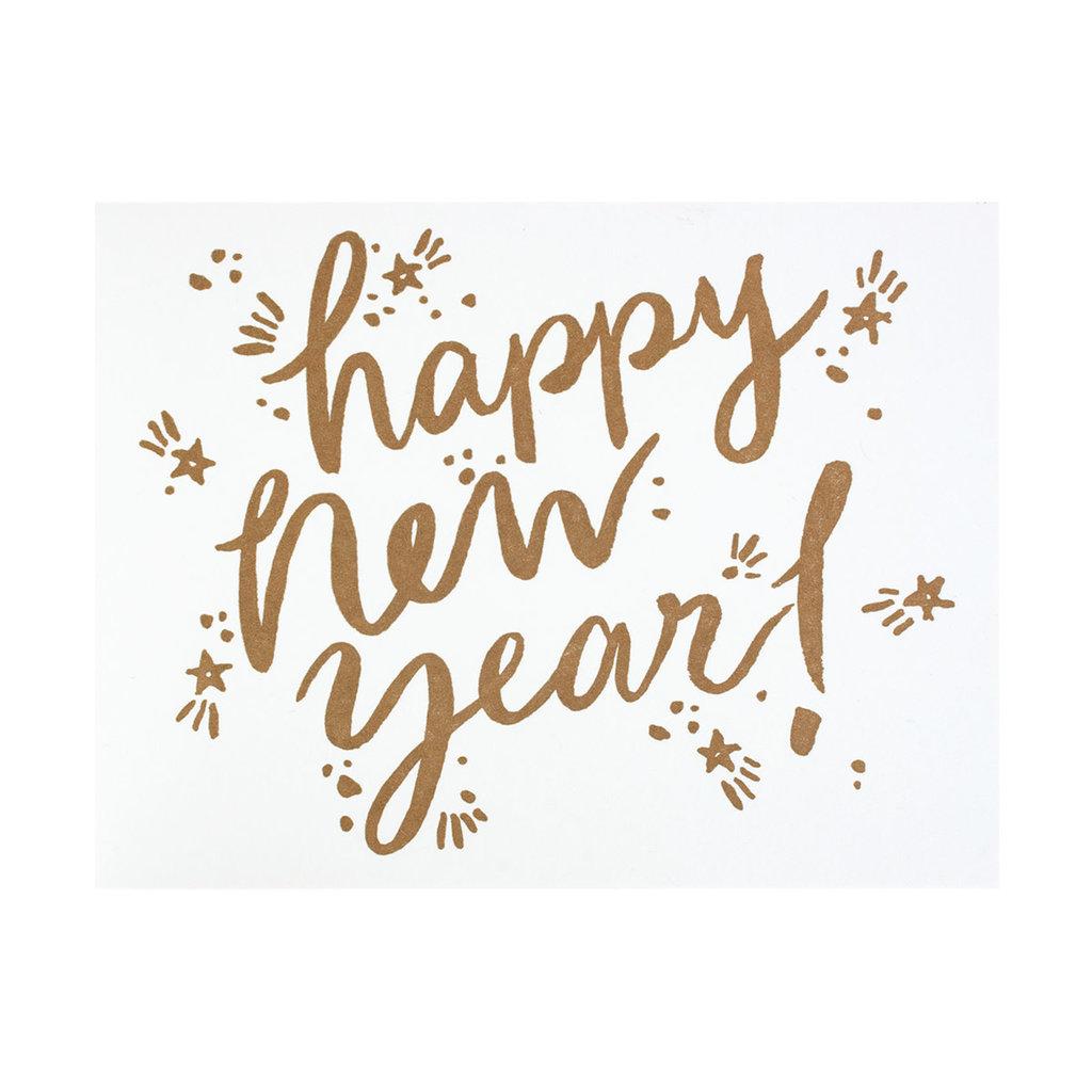 Folio Press & Paperie New Year Sparkle - Letterpress Card