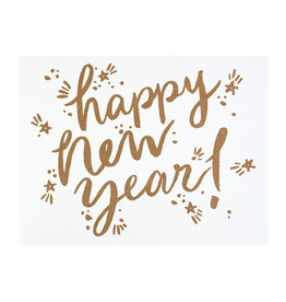 Folio Press & Paperie New Year Sparkle - Letterpress Card