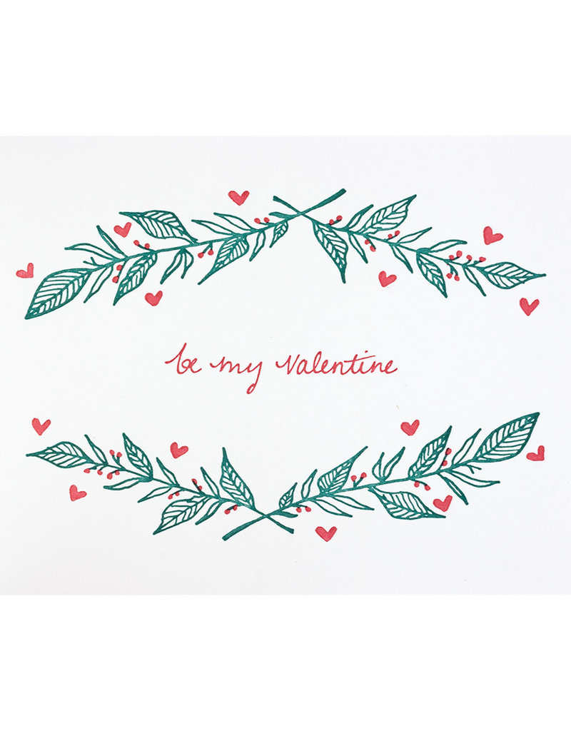 Folio Press & Paperie Be My Valentine - Letterpress Card