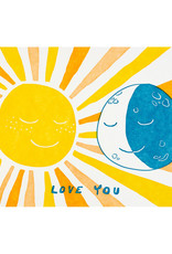 Folio Press & Paperie Sun and Moon Love - Letterpress Card