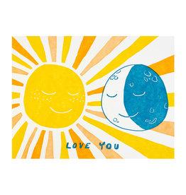 Folio Press & Paperie Sun and Moon Love - Letterpress Card