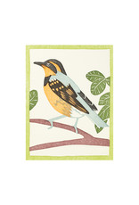 PushMePullYou Press Varied Thrush Letterpress Card