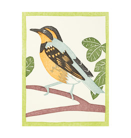 PushMePullYou Press Varied Thrush - Letterpress Card