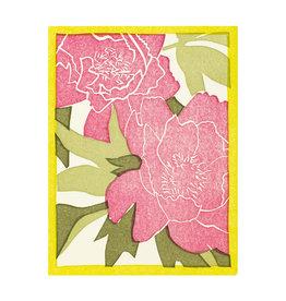 PushMePullYou Press Peony - Letterpress Card