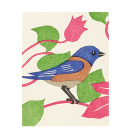 PushMePullYou Press Bluebird - Letterpress Card
