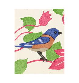 PushMePullYou Press Bluebird - Letterpress Card