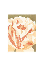 PushMePullYou Press Creamy Peony Letterpress Card