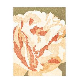PushMePullYou Press Creamy Peony - Letterpress Card