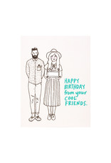 La Familia Green Cool Friends Birthday Card