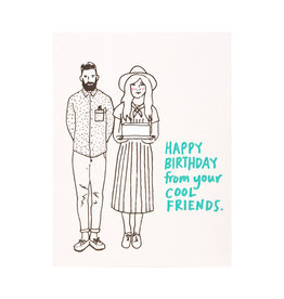 La Familia Green Cool Friends Birthday Card