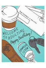 La Familia Green Adulting Birthday Card