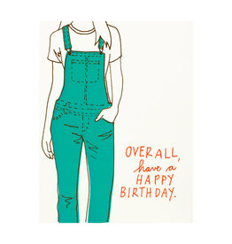La Familia Green Overall Birthday Card