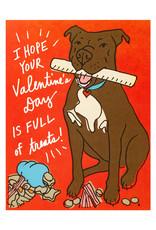 La Familia Green Valentine Treats with Dog Card