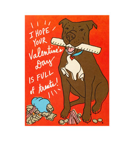 La Familia Green Valentine Treats with Dog Card