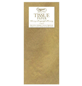 Caspari Gold Tissue Package - 3 Sheets
