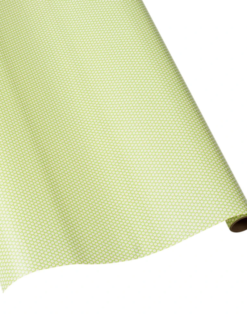 Caspari Calico Green  Continuous Wrap Roll