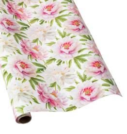 Caspari Blush Floral Continuous Wrap Roll