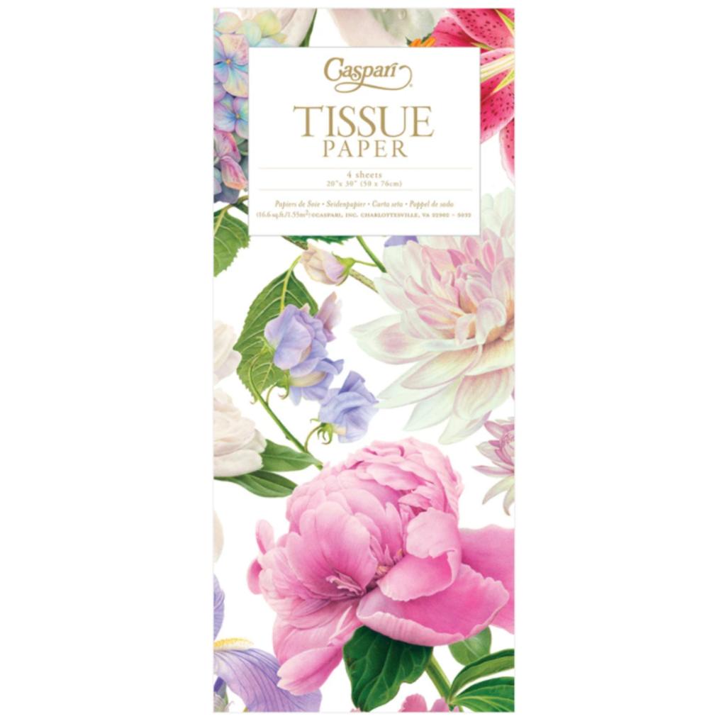 Caspari Chelsea Garden Tissue Package - 4 Sheets