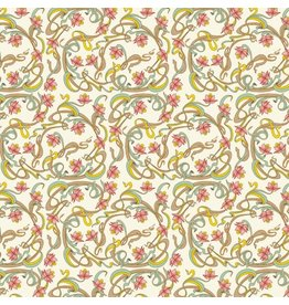 Rossi Art Nouveau Flowers Wrap Roll - 2 Sheets