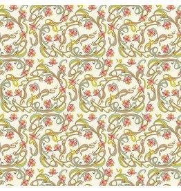 Rossi Art Nouveau Flowers Wrap Roll - 2 Sheets
