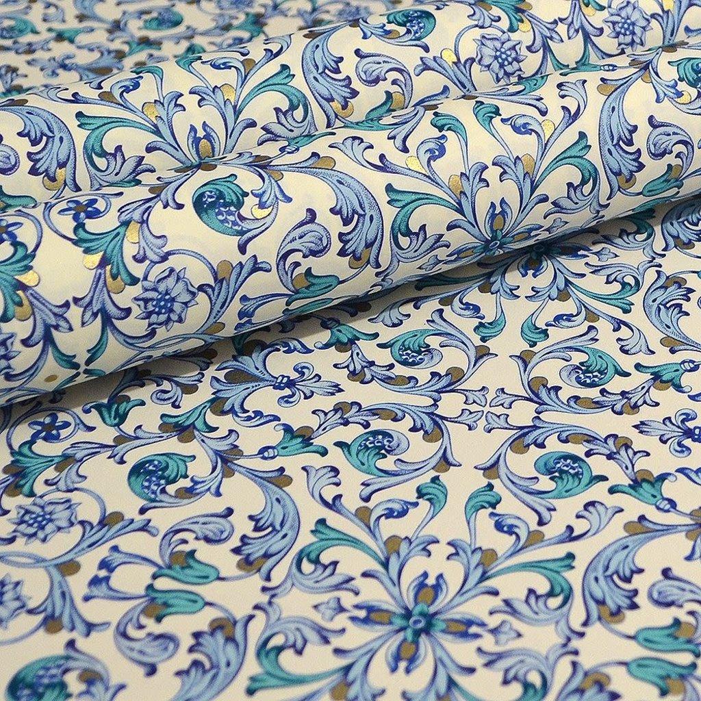 Rossi Blue Florentine Paisley Wrap -2 Sheets