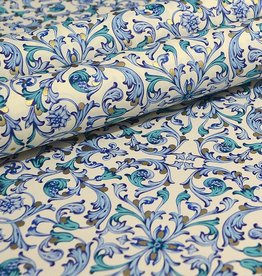 Rossi Blue Florentine Paisley Wrap -2 Sheets