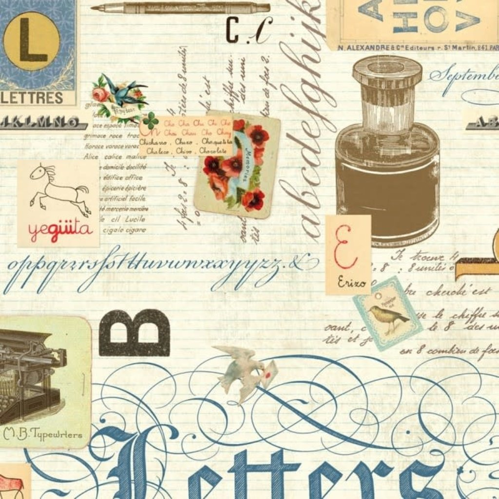 Rossi Lettres Collage Wrap - 2 Sheets