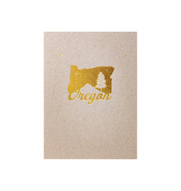 Lark Press Foiled Oregon Letterpress Card