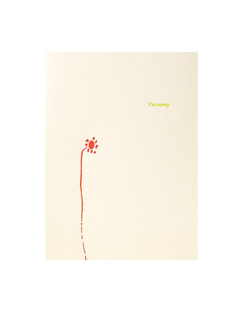 Lark Press I'm Sorry - Letterpress Card
