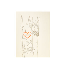 Lark Press Heart Carved Into Tree Greeting Card