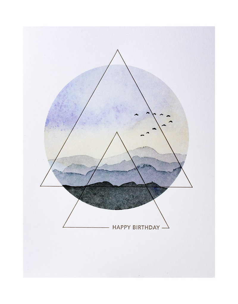 Lark Press Flock Happy Birthday Greeting Card