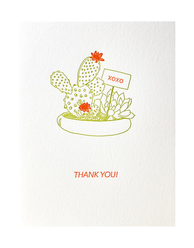 Lark Press Cactus Neon Thank You Notes Box of 6