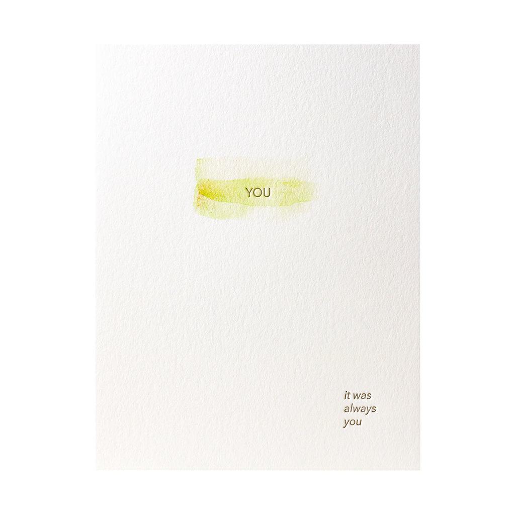 Lark Press You Always You Watercolor Greeting Card