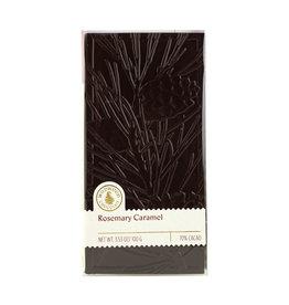 Rosemary caramel embossed chocolate bar