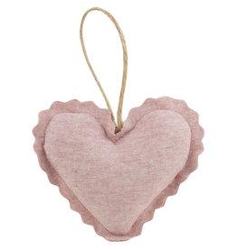 Linen Lavender Heart Sachet - Blush