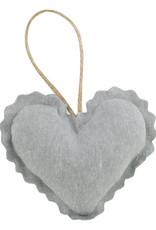 Linen Lavender Heart Sachet - Steel Gray