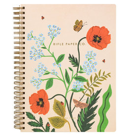 Rifle Paper Poppy Botanical Spiral Notebook - Lined