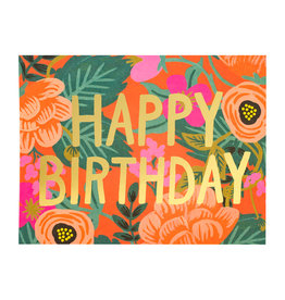 Rifle Paper Poppy Birthday Card